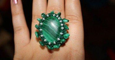 Малахитовое кольцо