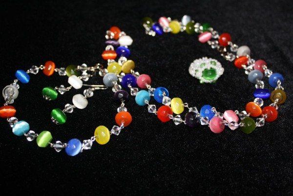 Комплекты (колье, серьги, кольцо)
