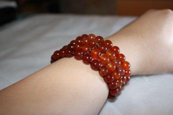 сердоликовый браслет
