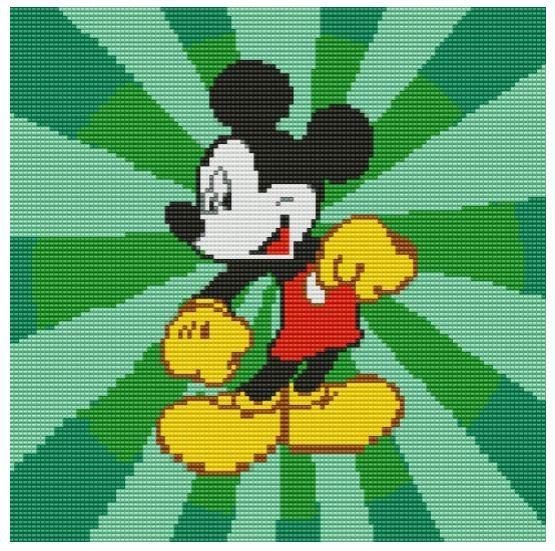 Схема из бисера Микки Маус