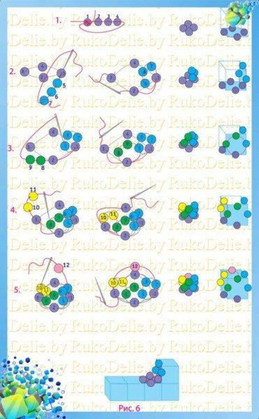 схема плетения презерватива из бисера