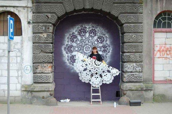 кружевное граффити