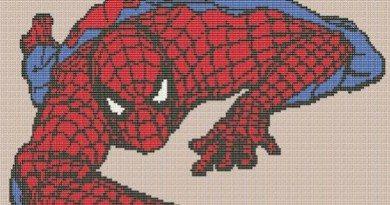 Человек паук схема вышивки