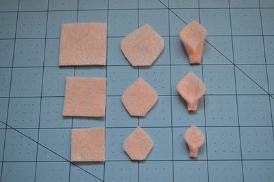 превращение из квадрата в лепесток