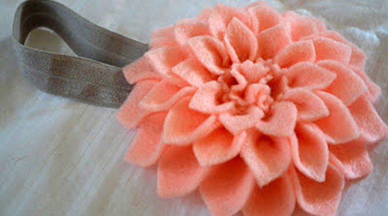 Повязка с цветком для девочки своими руками мастер класс