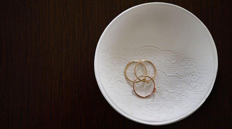 блюдце для колец из полимерной глины