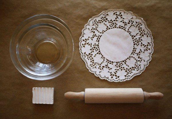 материалы для создания блюдца из полимерной глины