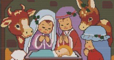 схема вышивки бисером рождество