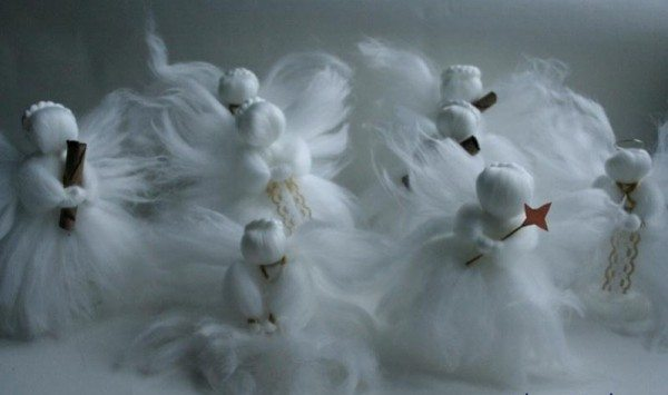 Ангелочки из шерсти