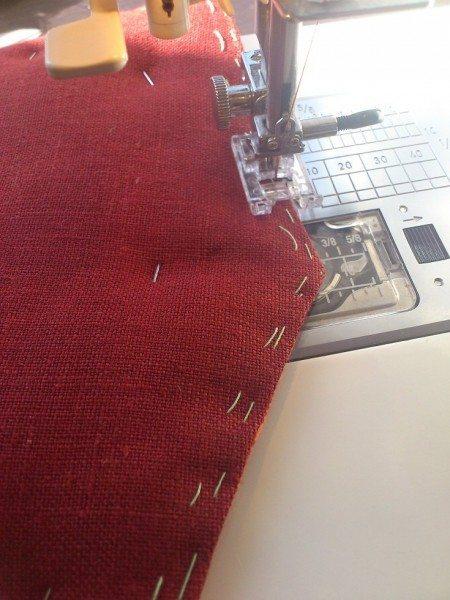 сшиваем две часть чехла