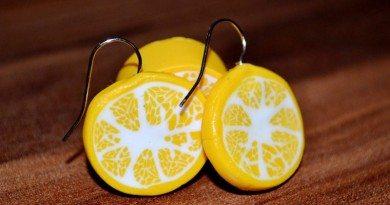 Лимон из полимерной глины