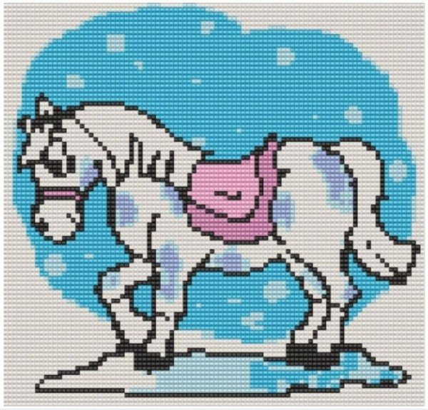 вышивка бисером лошадь схема скачать