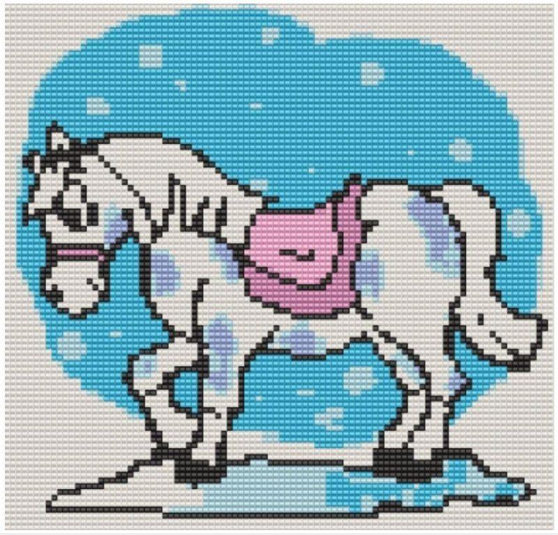 вышивка бисером лошадь схема