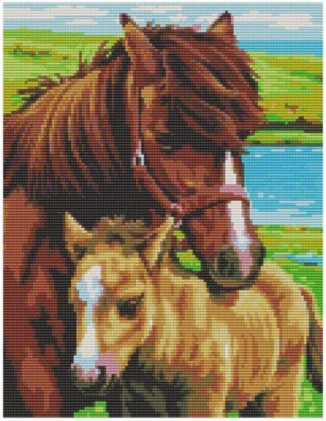 лошади схема вышивки бисером