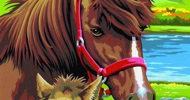 схема вышивки бисером лошади скачать