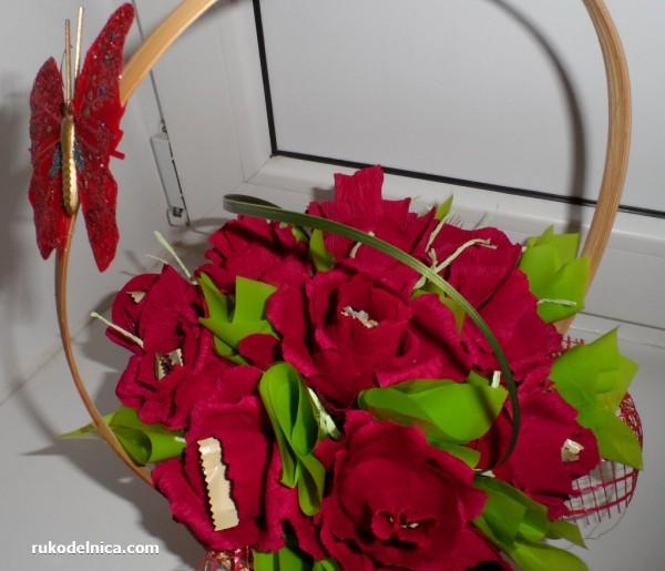 украшаем корзинку бабочкой