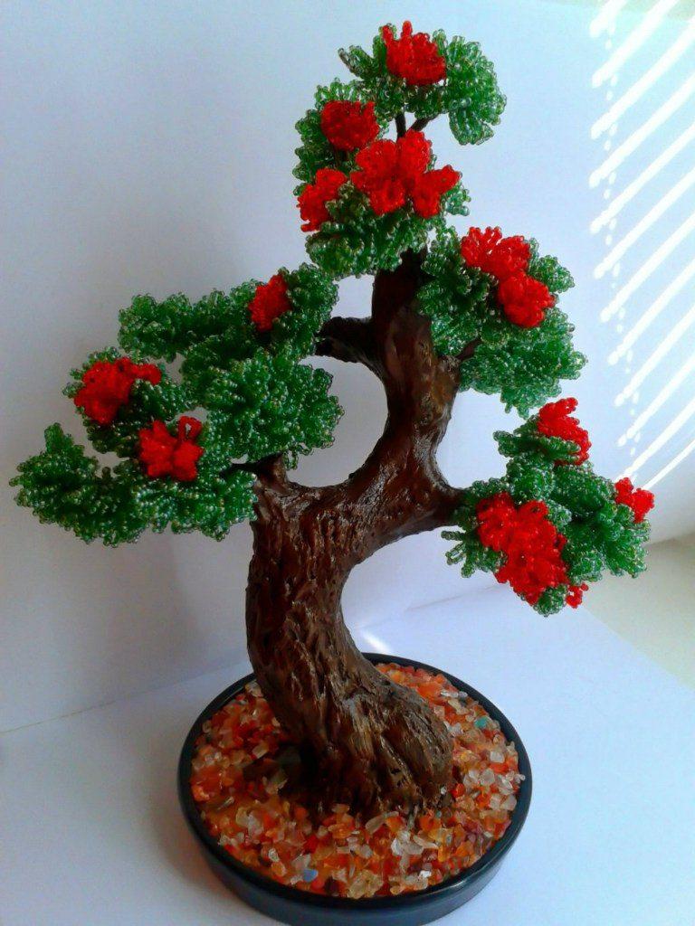 Денежное дерево из бисера схемы