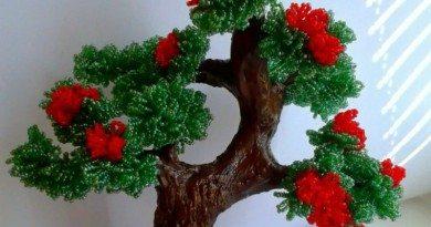 мастер-класс - Деревья из бисера