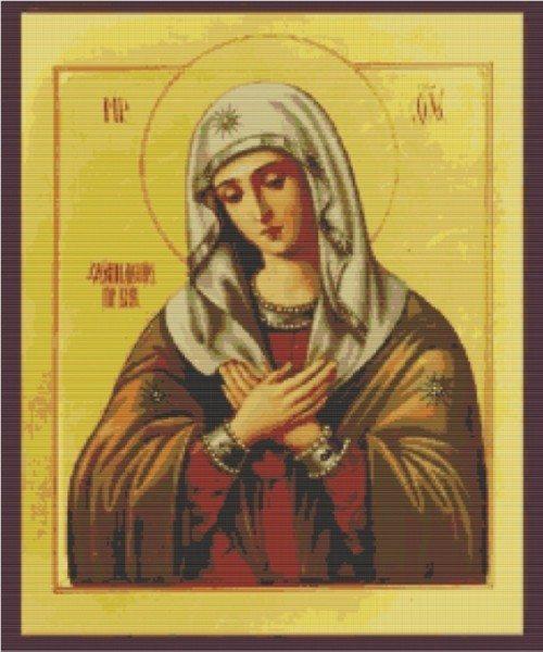 схема вышивки иконы богородицы