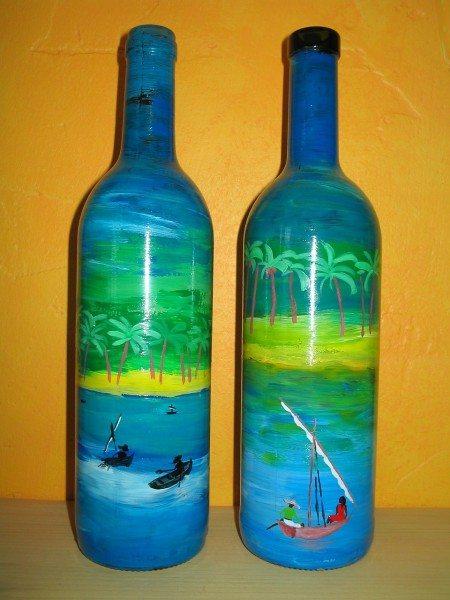 бутылки расписанные красками