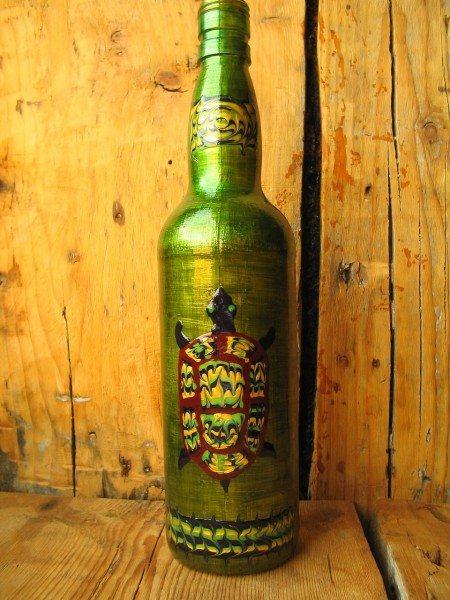 бутылка расписанная красками