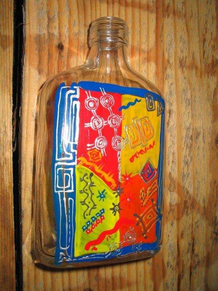 расписанная бутылка