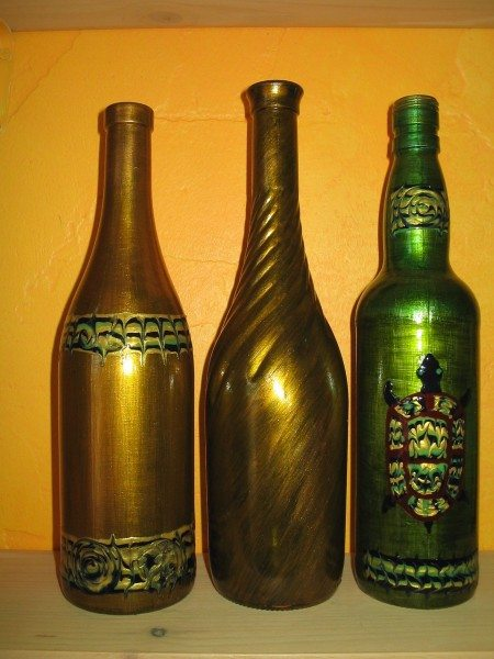 роспись бутылок красками