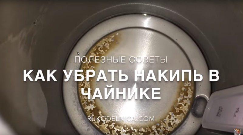 Почистить чайник от накипи в домашних условиях